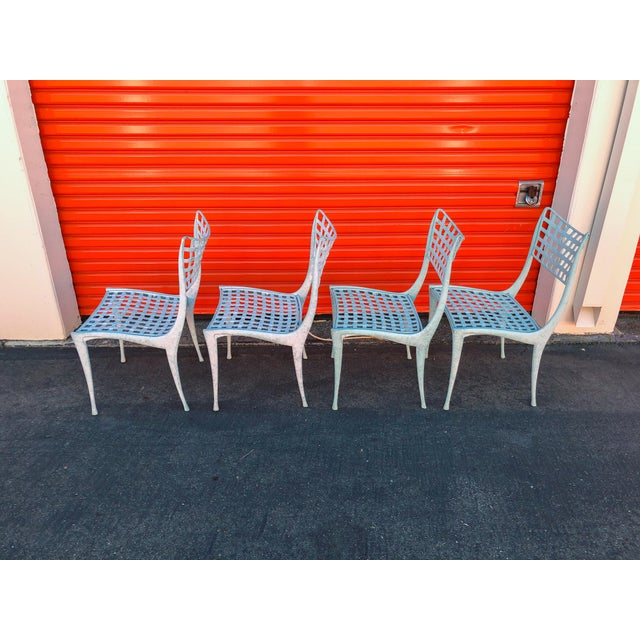 Green Dan Johnson Brown Jordan Sol Y Luna Patio Chairs - Set of 4 For Sale - Image 8 of 12