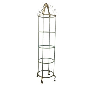 Hollywood Regency Gold Metal and Glass Etagere For Sale