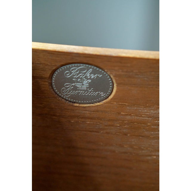 Baker Mid-Century Campaign Mahogany Chest of Drawers For Sale In New York - Image 6 of 11