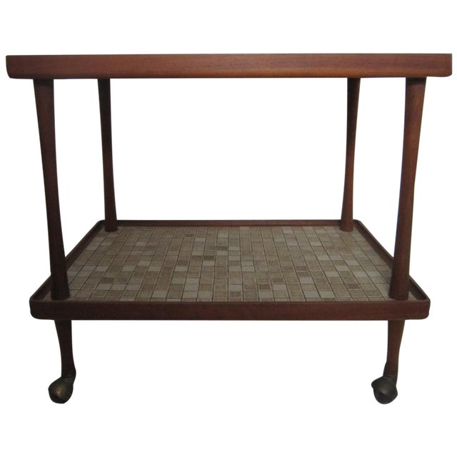 Danish Modern Teak Tea Cart For Sale