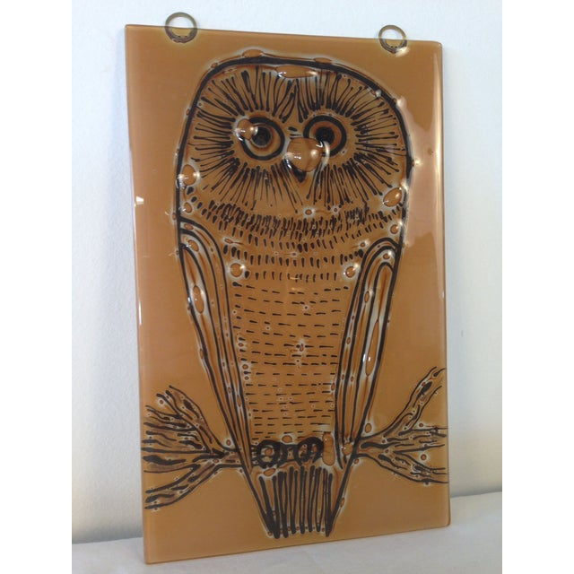 Vintage Higgins Owl Plaque - Image 2 of 6