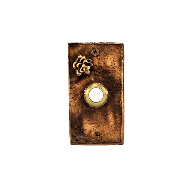 This particular doorbell is highlighted with one of our tiny, fully open Western Hemlock cones. Each piece incorporates a...