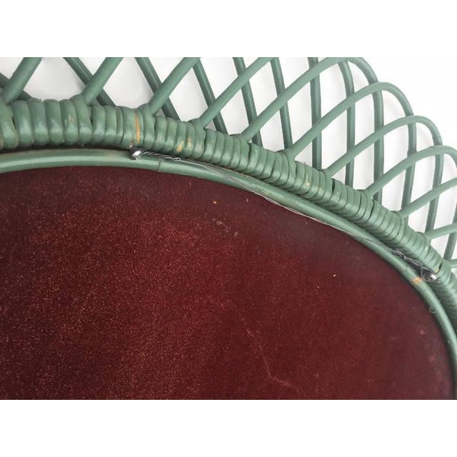 "Mid Century Bent Bamboo Wall Mirror Italian 31"" - Image 7 of 10"