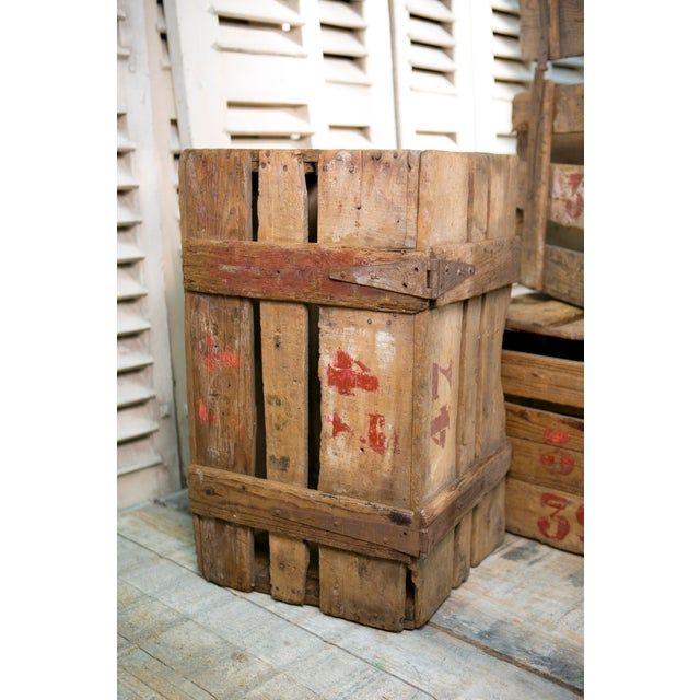 Primitive Hand-Made French Crates with Stenciled Numbers, circa 1900 For Sale - Image 4 of 5