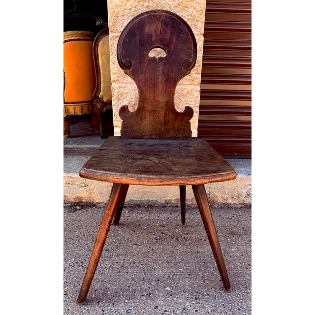 18th Century Bavarian Wooden Chair For Sale - Image 13 of 13