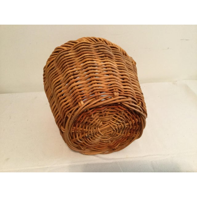 Wicker Vintage Wishing Well Basket For Sale - Image 7 of 8