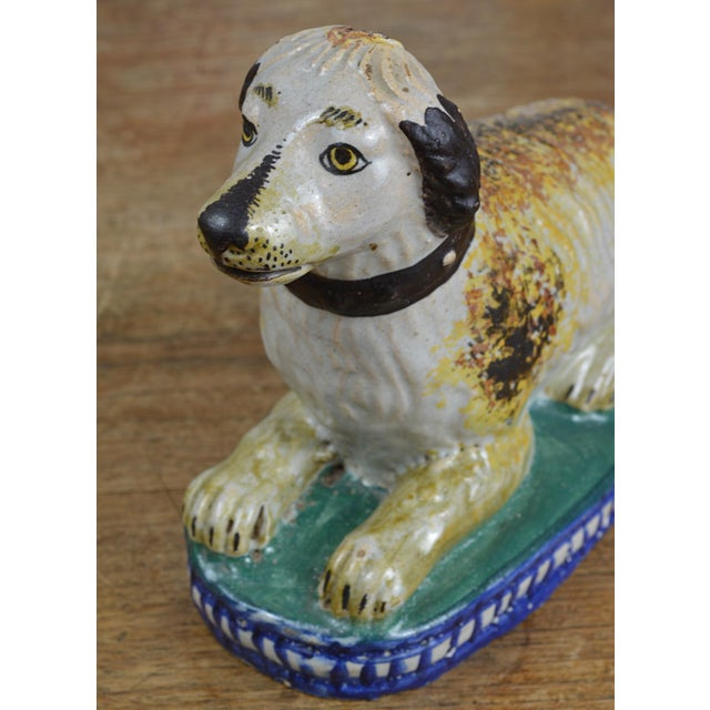 Clay 19th Century Staffordshire Seated Dog For Sale - Image 7 of 10