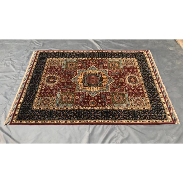 2010s Persian Handmade Traditional Rug - 4′11″ × 6′7″ For Sale - Image 5 of 5