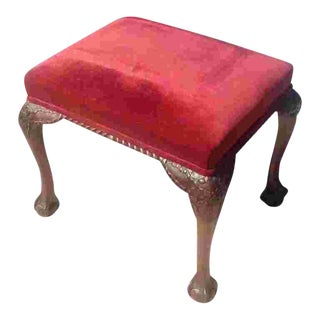 1910 Vintage Red Stool For Sale