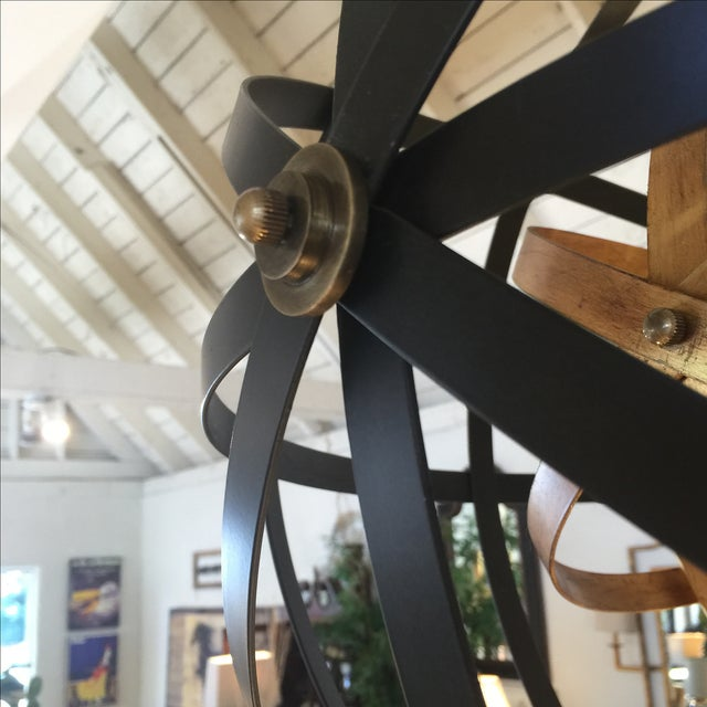 Large Round Orb Pendant Light For Sale In Sacramento - Image 6 of 9
