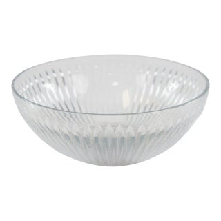 Contemporary Cut Glass Bowl For Sale