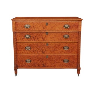 Biedermeier Birdseye Maple Chest of Drawers For Sale