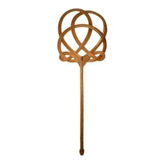 Antique Art Nouveau Wicker Rug Beater For Sale