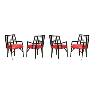 Custom Designed Dining Chairs by Paul Laszlo - Set of 4 For Sale