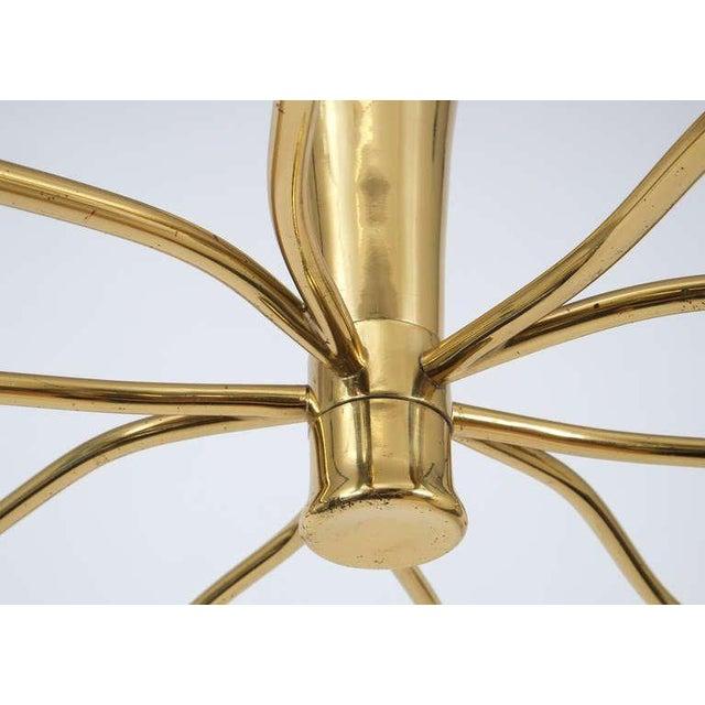 J.T. Kalmar J.T Kalmar Brass Sputnik Scorpio Chandelier Ceiling Lamp Light, 1950 For Sale - Image 4 of 7