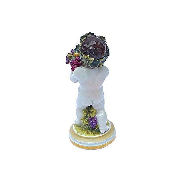 Meissen Porcelain Meissen Antique Porcelain Cherub Figurine For Sale - Image 4 of 6