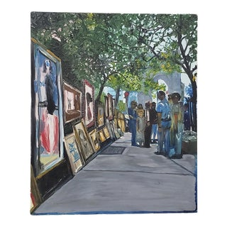 """Don Semich """"The Greenwich Village Art Show"""" Original Oil Painting For Sale"""