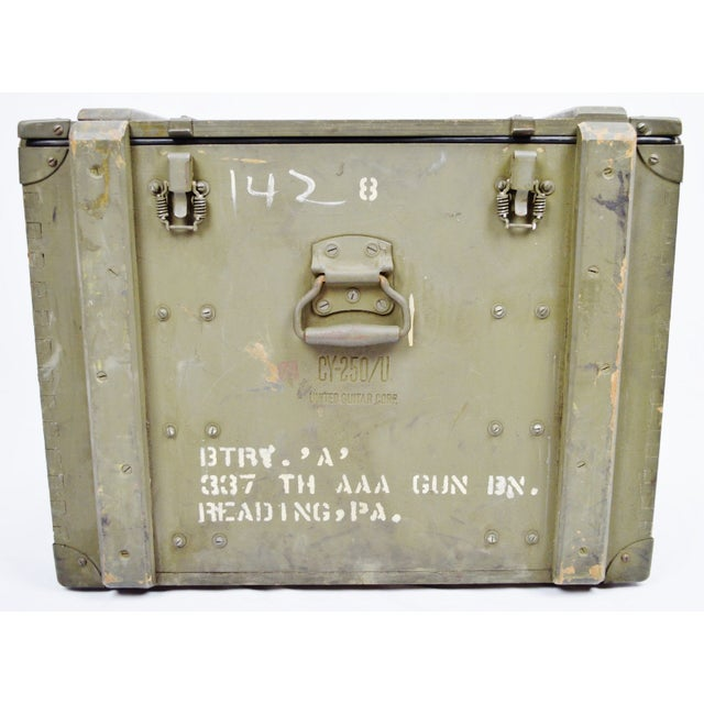 United States Army AAA Gun Site Equipment Crate For Sale In Philadelphia - Image 6 of 13