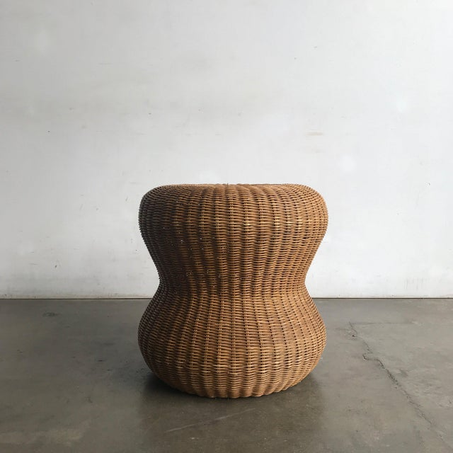 Late 20th Century Rattan Side Table For Sale In Los Angeles - Image 6 of 10