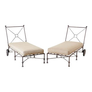 Papperzini for Salterini Style Patio Lounge Chairs - a Pair For Sale