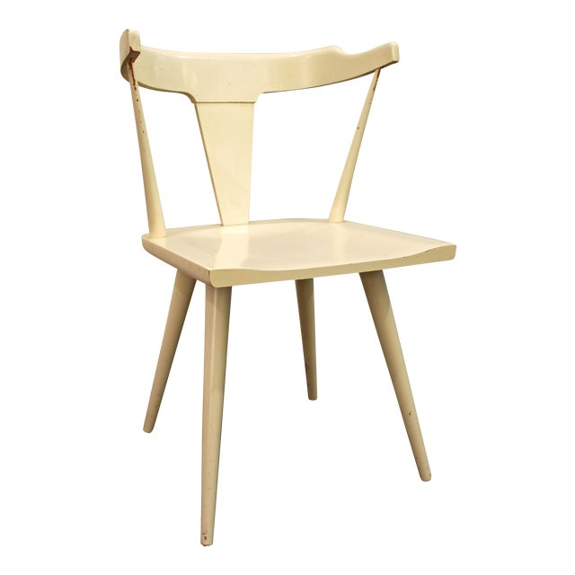 Mid-Century Danish Modern White Paul McCobb Planner Group Desk Side Chair For Sale