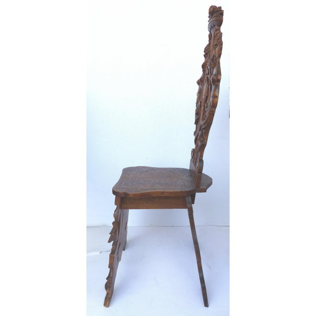 19th Century Italian Carved Baroque Sgabe Chair - Image 2 of 10