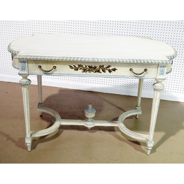 Swedish Louis XVI Style Library Table For Sale - Image 11 of 11