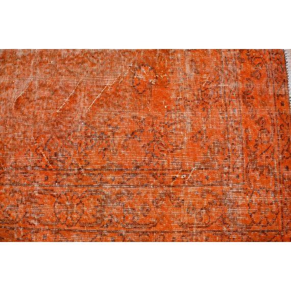 Turkish Rug Orange: Turkish Anatolian Oushak Orange Rug - 5′2″ × 8′7″