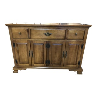 Keller Furniture Wood Sideboard For Sale