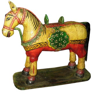 Vintage Painted Indian Horse For Sale