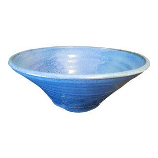 Blue Glazed Pottery Bowl For Sale