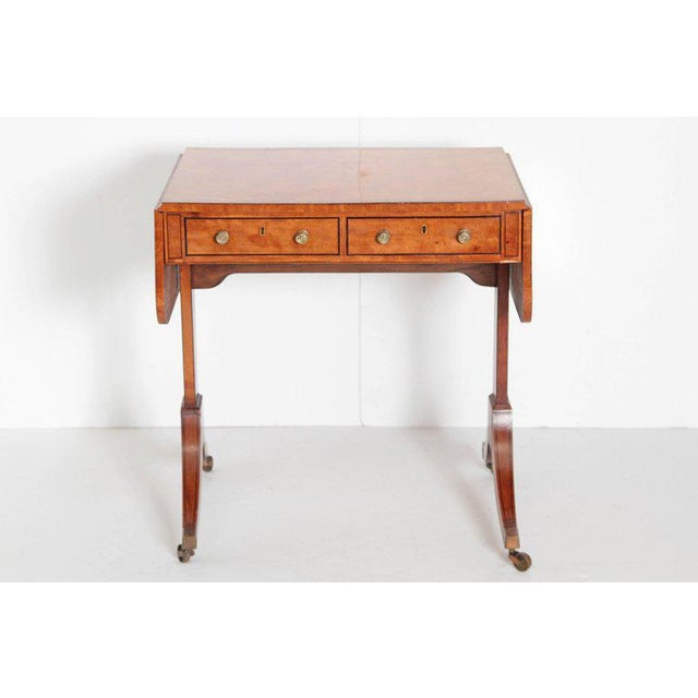 English Regency Satinwood Sofa Table For Sale - Image 12 of 13