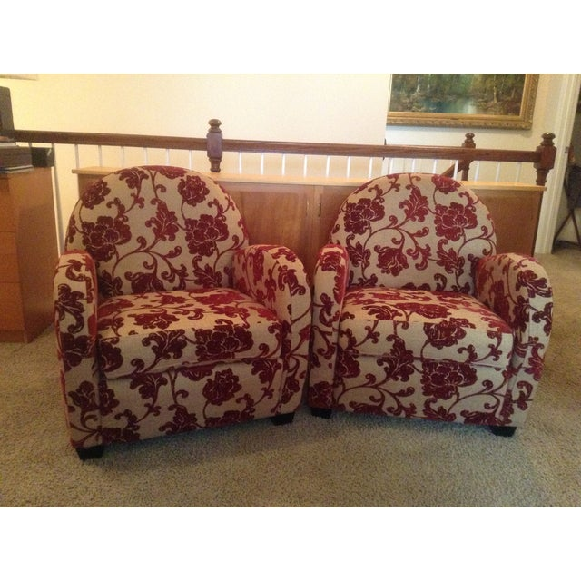 Art Deco Style Club Chairs - A Pair - Image 2 of 5