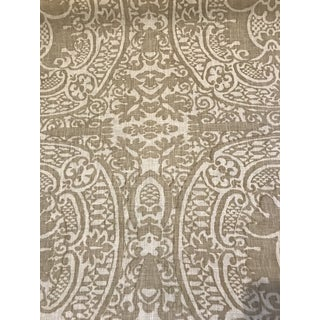 "Quadrille ""Veneto"" Linen Fabric 4 Yards For Sale"