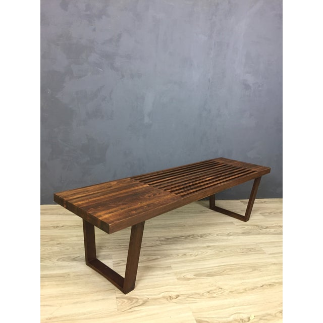 George Nelson Style Mid Century Bench/Coffee Table - Image 2 of 6