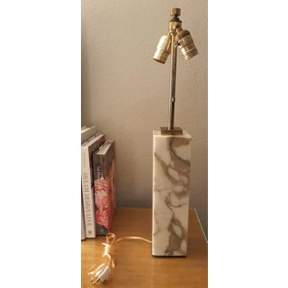 1960s T. H. Robsjohn- Gibbings Marble and Brass Table Lamps, Model #303 With Shades - a Pair Preview