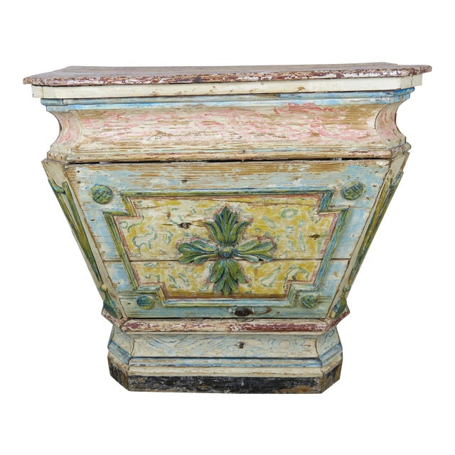 19th Century Italian Painted Altar Table For Sale