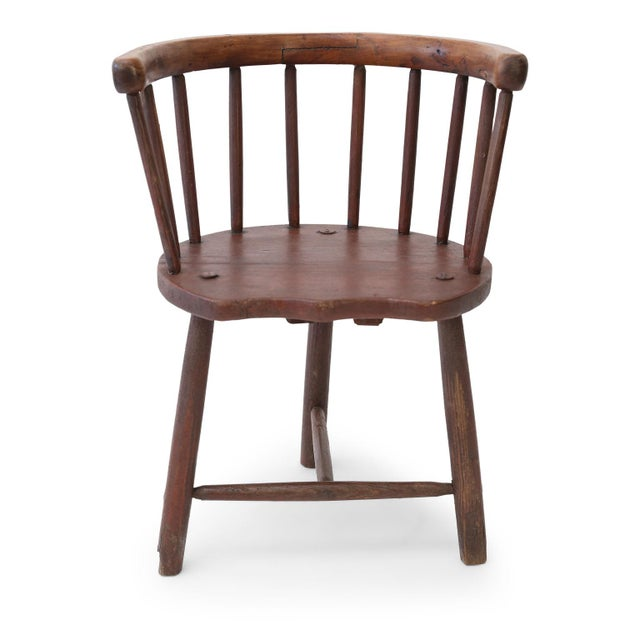 Scottish horseshoe-back chair, circa 1850-1870. This vernacular chair from Argyll, Scotland, features pegged construction...