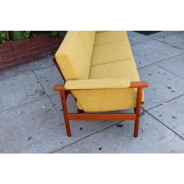 Mid Century Modern Mustard Sofa For Sale - Image 5 of 11