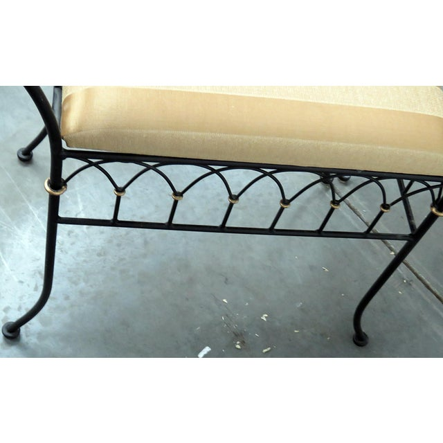 Late 20th Century Directoire Style Gilt Benches - a Pair For Sale - Image 5 of 8