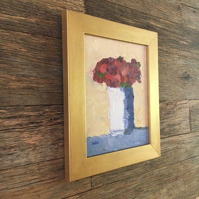 Red Roses Still Life Oil Painting - Image 4 of 6