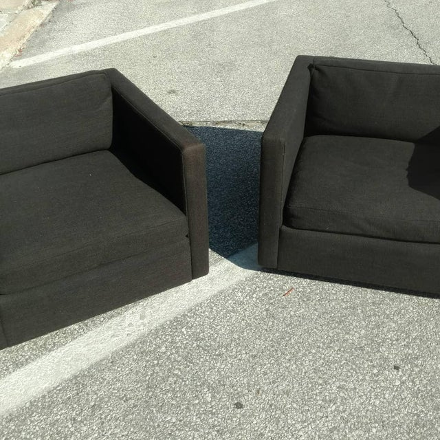 Minimalism Knoll Club Chairs by Charles Pfister - A Pair For Sale - Image 3 of 7
