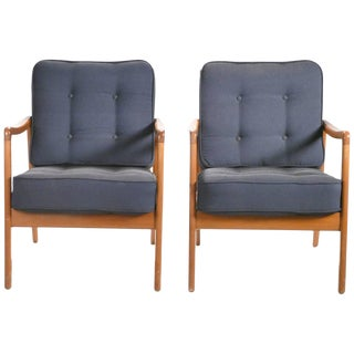 Pair of Ole Wanscher Fd109 Armchairs, 1960s For Sale