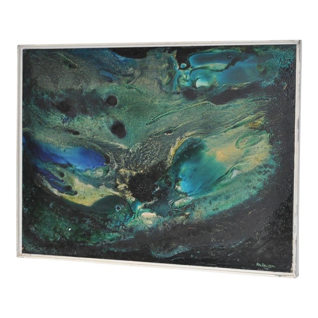 Mid-Century Modern Abstract Painting by Rita Robinson C.1961 For Sale