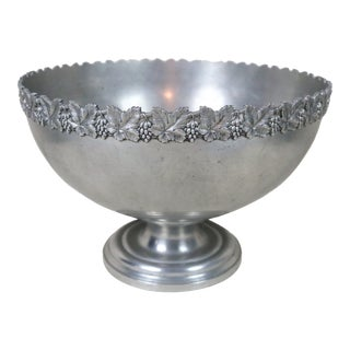Late 19th Century French Pewter Champagne Cooling Bowl For Sale