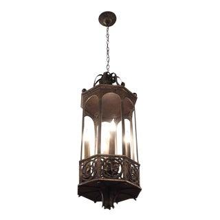 Bronze 5-Light Pendant Lantern For Sale