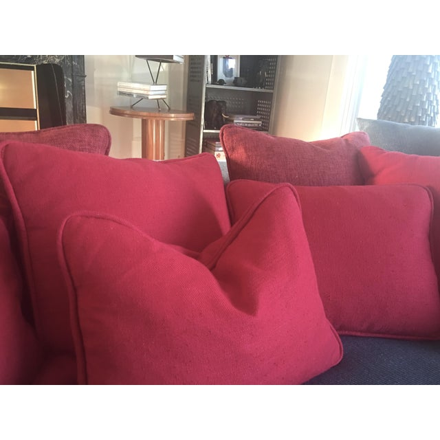 Solid Striated Silk Blend Pillows - Set of 6 - Image 6 of 7