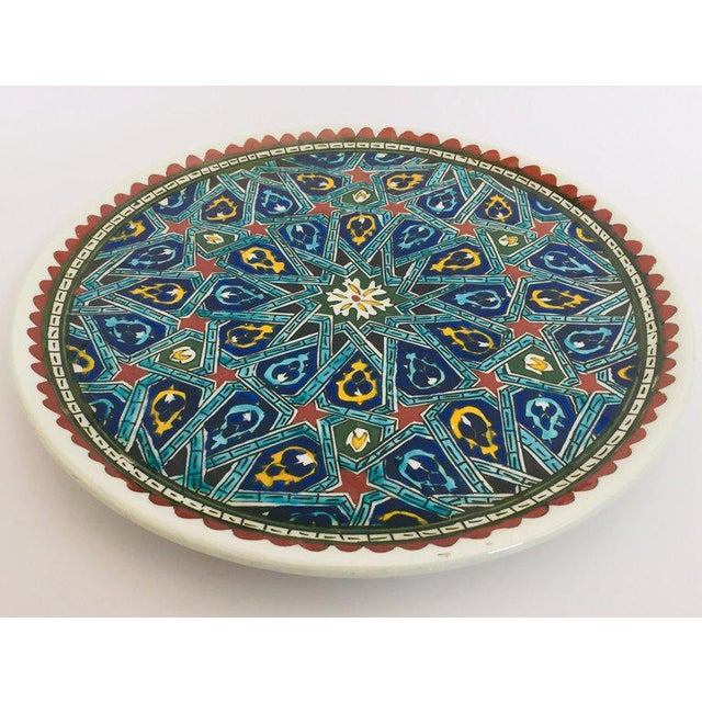 Mid 20th Century Hand Painted Ceramic Decorative Plate With Islamic Koranic Calligraphy For Sale - Image 5 of 13
