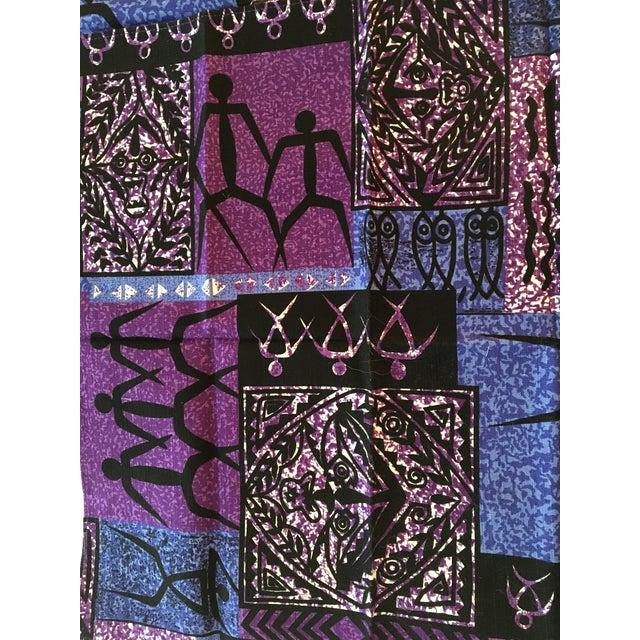 Tribal Vintage Batik Dinner Napkins, Set of 4 For Sale - Image 3 of 5