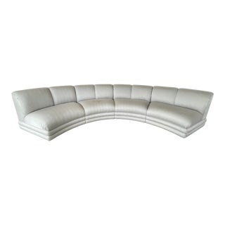Large Curved Custom Made Sectional From 80's. For Sale